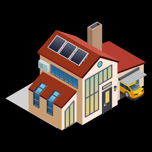 casa solare termico acqua calda sanitaria