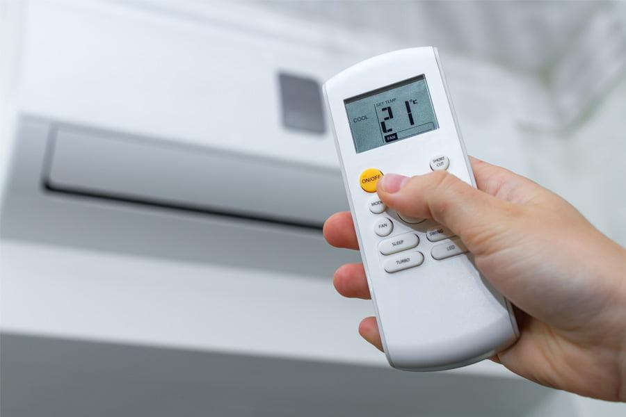 accensione del climatizzatore